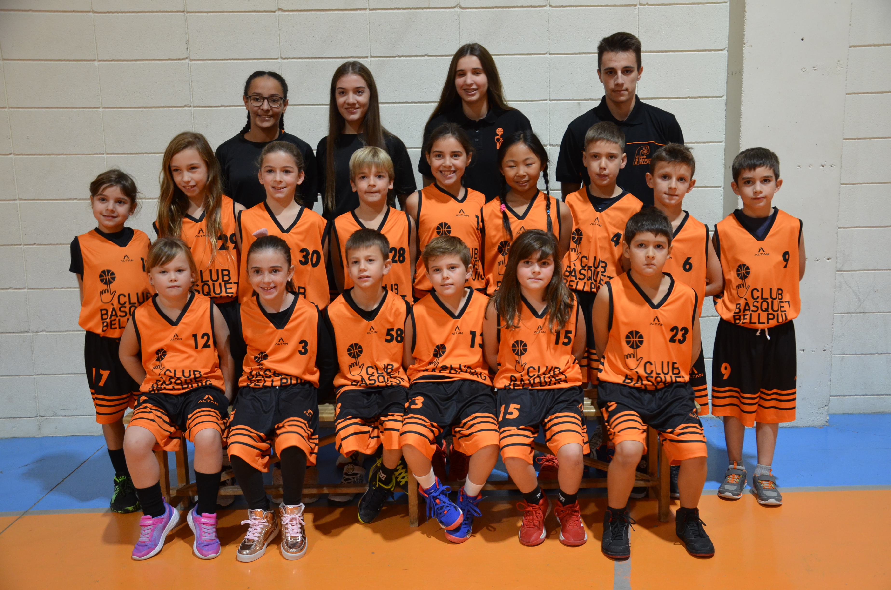 Pre-Mini Mixte Temp.2019-2020 Club Bàsquet Bellpuig