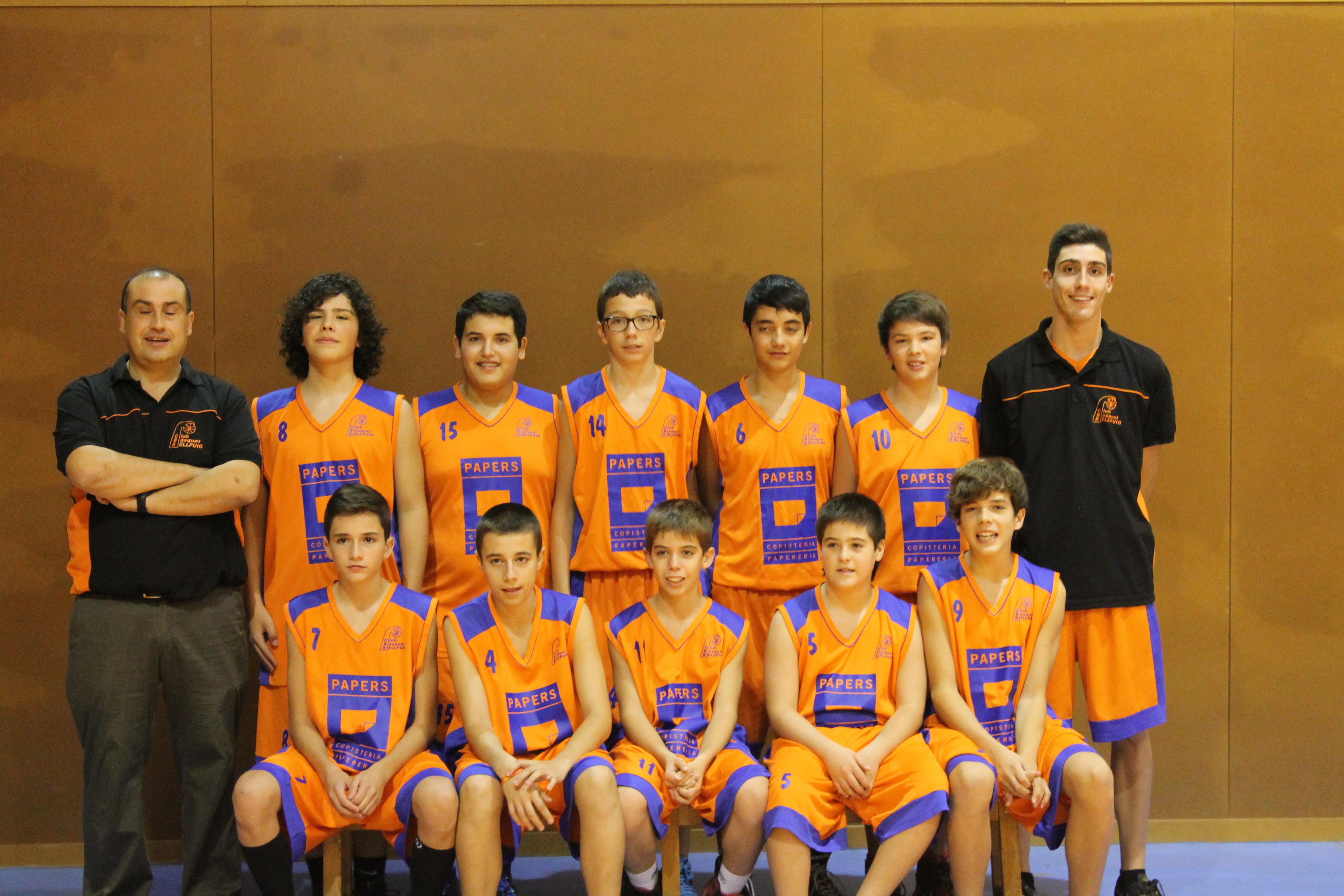 Infantil Masculí Temp.2014-2015 Club Bàsquet Bellpuig