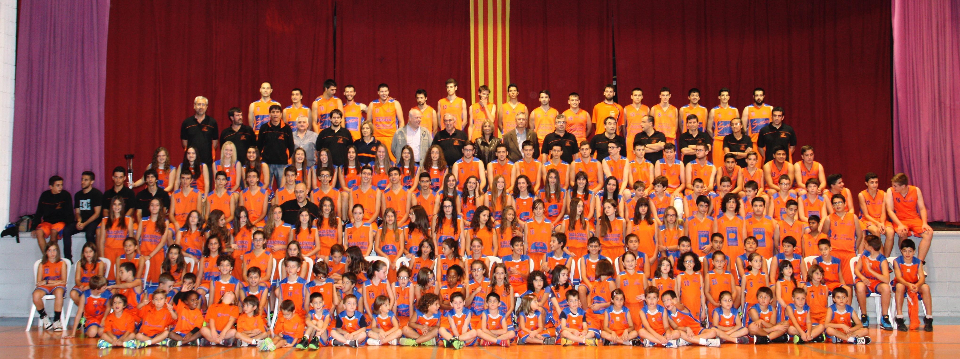 Fotografia de grup Temp.2014-2015 Club Bàsquet Bellpuig