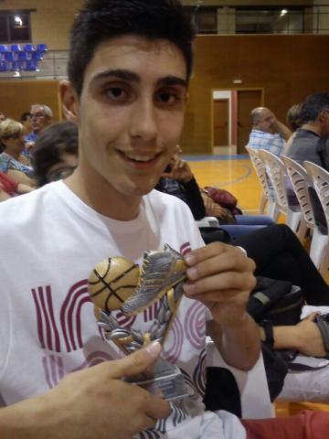 Albert Guim i Soberana. Millor jugador infantil 2012-2013
